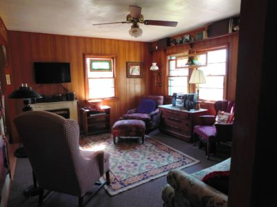 interior of cabin with chairs for relaxing