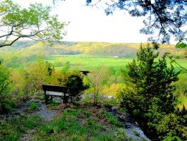 bend overlooking countryside