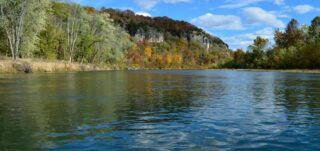 bluffs from upriver