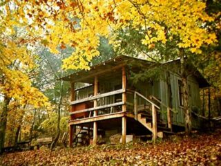Line Camp Cabin in the fall