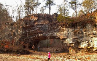 natural bridge at Clifty Hollow