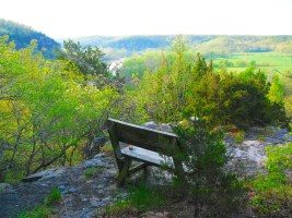 bench overlooking countryside