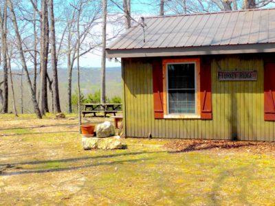 corner of Turkey Ridge Cabin